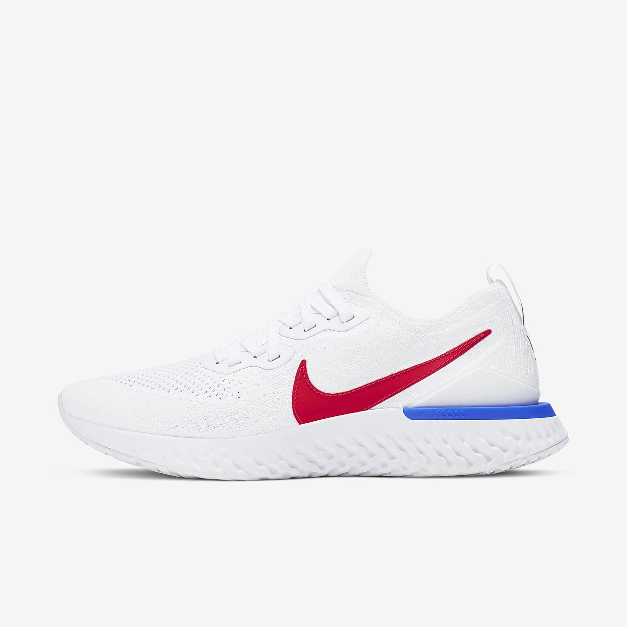 Perspectiva solitario Terrible  Běžecké Boty Nike Nová Kolekce - Pánské Nike Epic React Flyknit 2 BRS  Bílé/Blankyt/Červené